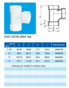 Tee PVC Equal Tee ASTM Dwv D2665 NSF Certificate pictures & photos