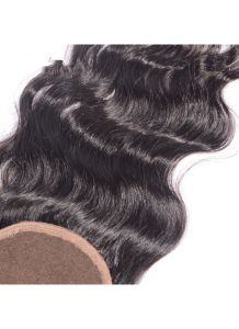 100% Virgin Hair Lace Frontal 4X4 Natural Wave Lace Closure, Ear to Ear Full Lace Frontal Bleached Knots with Baby Hair pictures & photos