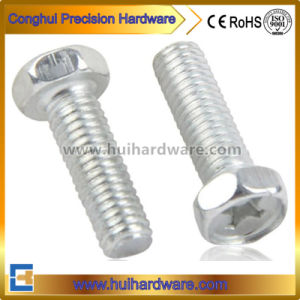 Cross Hex Head Screw Bolt with White Zinc Plated M3 M4 pictures & photos