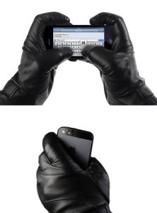 2017 New PU Leather Touchscreen Glove pictures & photos