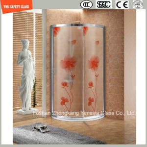 Four Color High Temeprature Silk Screening Shower Glass pictures & photos