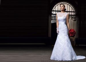 off-Shoulder Lace Beaded Bridal Wedding Dresses (AL007) pictures & photos