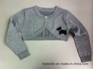 Baby Girls Silvery Lurex Scotty Dog Cardigan pictures & photos