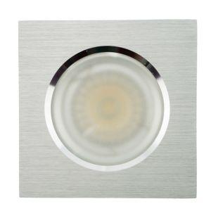 Lathe Aluminum GU10 MR16 Square Fixed Recessed LED Bathroom Downlight (LT2905) pictures & photos
