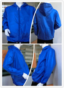 2017 OEM Hood Cycling Waterproof Foldable Rain Jacket pictures & photos