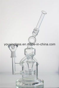 Glass Smoking Pipe Glass Pipe Glass Water Pipe with Tyre Recycler and Perfect Percolator  pictures & photos