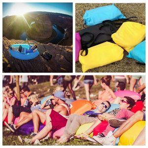 Inflatable Outdoor Air Sleep Sofa with Internal PVC for Summer Camping Beach pictures & photos