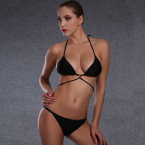 Professional Factory Halter Bikini Swimwear pictures & photos