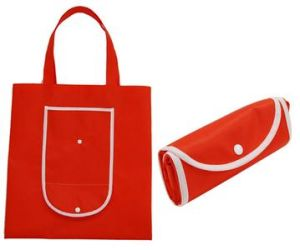 Button Folding Nonwoven Bag for Shopping pictures & photos