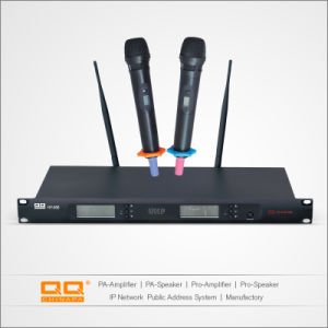 Professional High Sensitive UHF Wireless Microphone with Two Handheld Mic pictures & photos