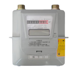 IC Card Prepaid Steel Case Digital Domestic Diaphragm Gas Meter pictures & photos