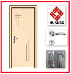 MDF Wood PVC Laminated Door Design for Interior Room Hb-071