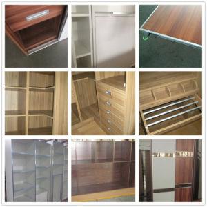 N&L Sliding Door Plyyood Wooden Bedroom Wardrobe with Melamine pictures & photos
