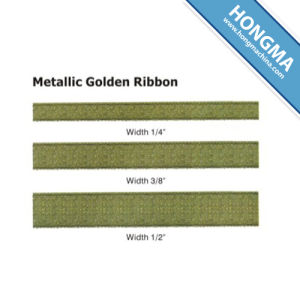 24 Hours Service Online Good Price Metallic Golden Ribbon 1102-1001