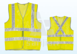 Jy-7002 PP LED Safety Vest Bright Reflective pictures & photos