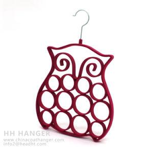 Wholesale Flocked Hanger, Hot Sale Plastic Hanger, Velvet Tie Hanger pictures & photos