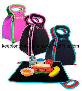 Customized Fold Neoprene Lunch Picnic Cooler Bag with Zipper Closed pictures & photos