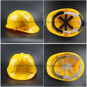HDPE Helmet Hard Hat Heavy-Duty Helmet Six Point Fixing Safety Helmet (SH502) pictures & photos