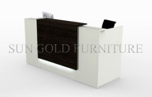 White&Black Reception Stations, Modern Reception Desk Office Furniture (RT011) pictures & photos