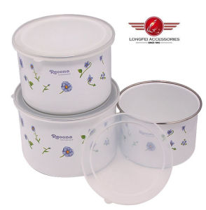 3PCS 210d New Style Bowl of Enamelware with PP Lid pictures & photos