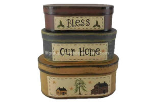Vintage Paper Boxes Home Decor Set Gift Boxes (FAFG022) pictures & photos
