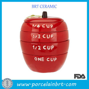 Red Apple Shape Eco-Friend Ceramic Measuring Cup pictures & photos