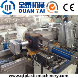 Co-Rotating Double Screw Extruder / Pet Flakes Recycling Pelletizing Machine pictures & photos