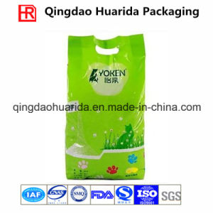 Flat Bottom Gusset Plastic Packaging Bag for Cat Litter pictures & photos