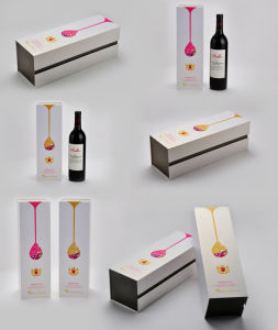 White Wine Box with Paper Bag, Colorful Wine Boxes with Styrofoam Tray pictures & photos