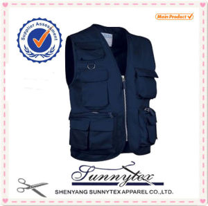 Customized Wholesale Sleeveless Tool Vests & Waistcoats pictures & photos