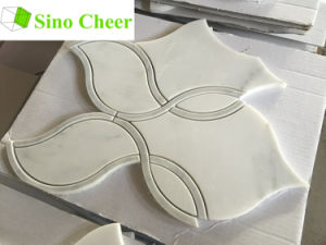 White Marble Water Jet Mosaic Tile Price for Interior Decoration pictures & photos