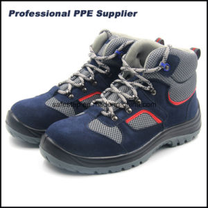 High Cut Suede Leather Work Time Safety Shoes pictures & photos