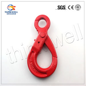 G80 Forged Alloy Steel Self Locking Eye Safety Hook pictures & photos