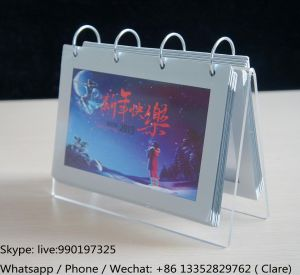 Desktop Clear Acrylic Calendar Display Stand pictures & photos
