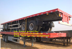 2 Axles 30 Tons Flatbed Semi Trailer
