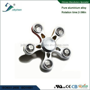 Five Leaves of Alloy Hand Spinner Fidget Spinner Finger Spinner with LED Colorful Lights pictures & photos