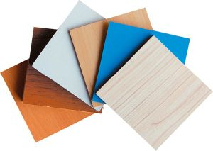 Wood Grain Paper Laminated MDF Fiber Board pictures & photos