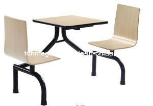 Modern Wood Metal Leg Stainless Banquet Chair Table (FOH-CBC04) pictures & photos