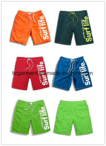 4 Way Fabric Board Shorts, Solid Colros Printed Design Beach Shorts for Man pictures & photos