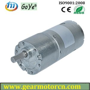 From 6V to 24V High Torque Low Noise Round 37mm Diameter Gear Box DC Gear Motor pictures & photos