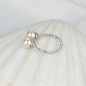 6mm AAA Round Real Freshwater Two Pearl Ring pictures & photos