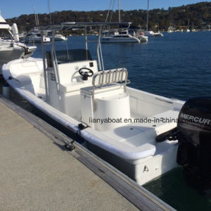 Liya 7.6m Fiberglass Fishing Boat Panga Boat with Motor for Sale pictures & photos