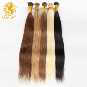 1g/S 100g Human Remy Hair Ash Brown Platinum Blonde Straight Custom Capsule Keratin Stick I-Tip Human Hair Extensions pictures & photos