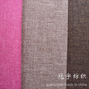 Nonwoven Backing Fire Retardant Coated Linen Fabric for Sofa pictures & photos