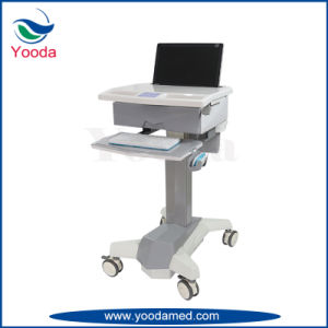 Height Adjustment Medical Computer Laptop Cart pictures & photos