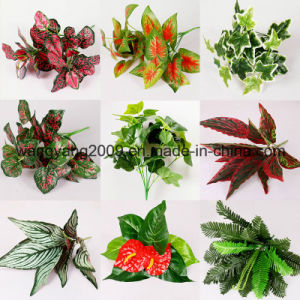Artificial Fake Synthetic Leaves Branch
