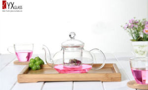 600ml Heat-Resistant Borosilicate Glass Teapot with Glass Filter/Glass Tea Kettle/Glass Tea Maker with Glass Cap pictures & photos