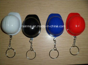 Plastic Safety Helmet Keychain with LED Light pictures & photos