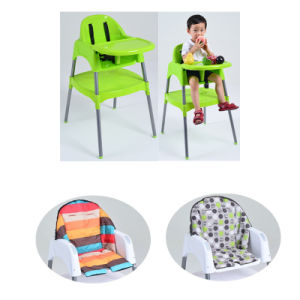 En14988 Approved Plastic Baby High Chair with Cushion