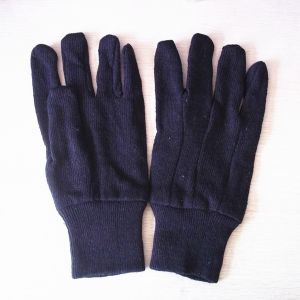 Brown Jersy Poly Cotton Work Gloves with Knit Wrist pictures & photos